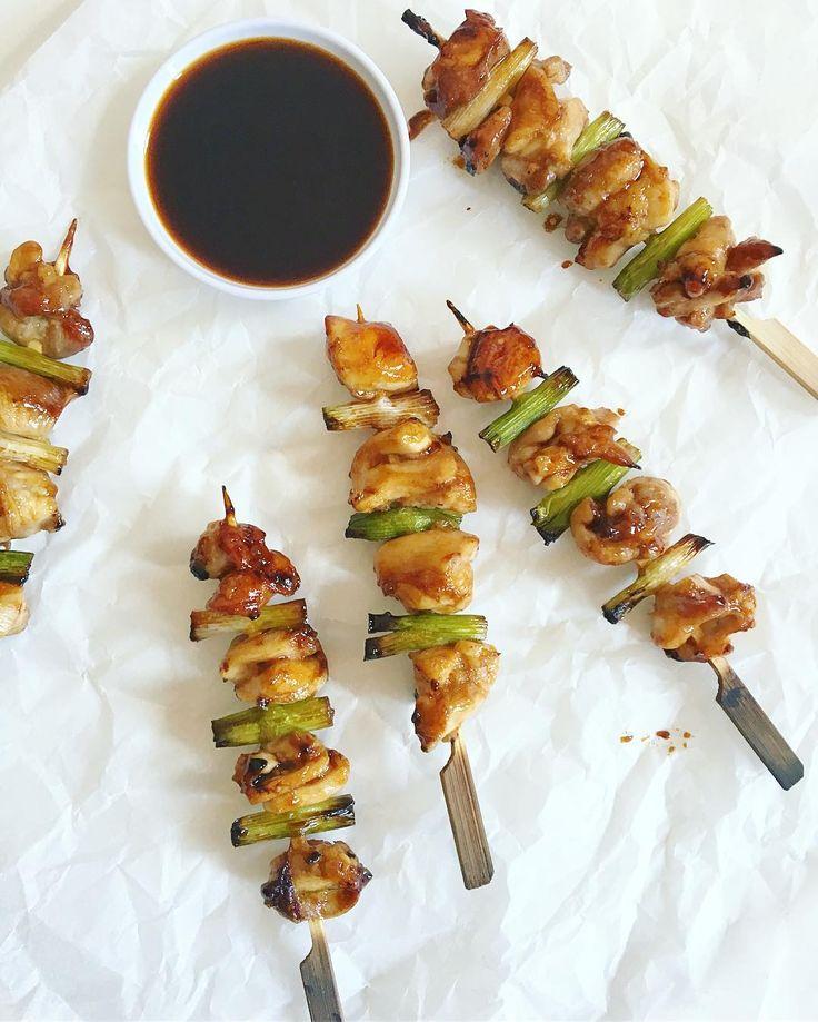 Yakitori recept op mijn blog. Japanse kipspiesjes met bosui. . . . #recept #kip #homecooking #eten #lekker #yakitori #aziatischkoken #foodporn #foodie #hungry #chicken #japanesefood