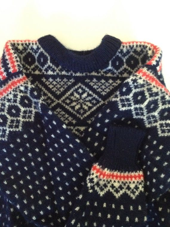 Vintage skandinavischen Pullover aus Norwegen / von VintageByBeth