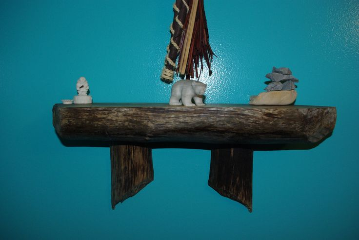 Beaver Chewed Driftwood Shelf by BeaverChewdDriftwood on Etsy