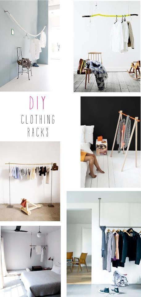 DIY Clothing Racks. absolutely.