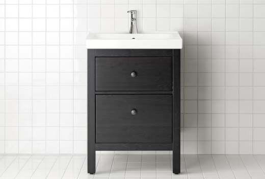IKEA Waschbeckenunterschränke wie hier HEMNES/ODENSVIK ...