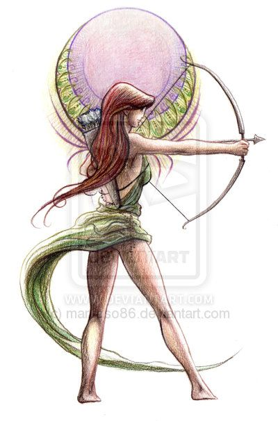 Theogony- Artemis by ~marcoso86 Would be a cool tattoo, but drop the dress a little