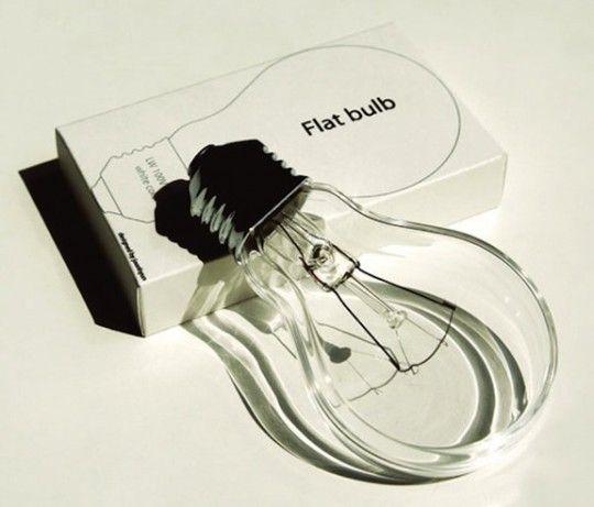 Flat Light Bulb by Joonhuyn Kim via selectism #Light_Bulb #Flat _Light_Bulb #selectism #Joonhuyn_Kim