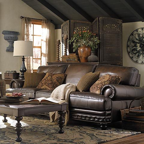 17 best ideas about brown leather sofas on pinterest - Leather sofa ideas for living room ...