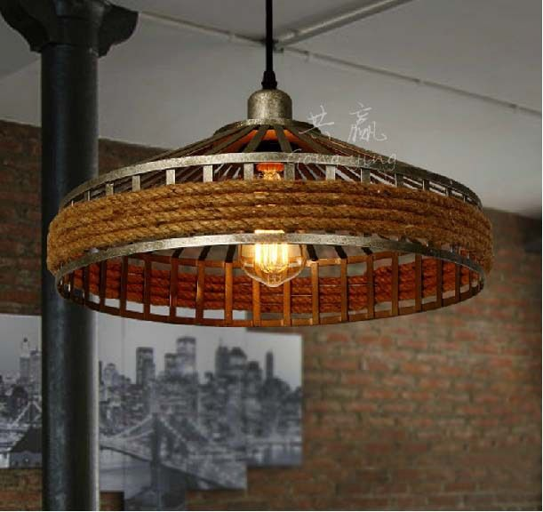 American country droplight retro creative living room lamp rural hemp rope chandelier lamps and lanterns industry restaurant-in Pendant Lights from Lights & Lighting on Aliexpress.com | Alibaba Group