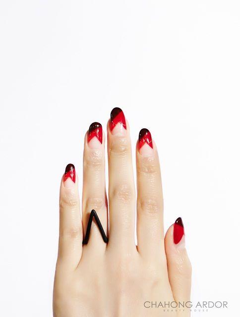 Red turban #nailart #nail #beauty #chahongardor