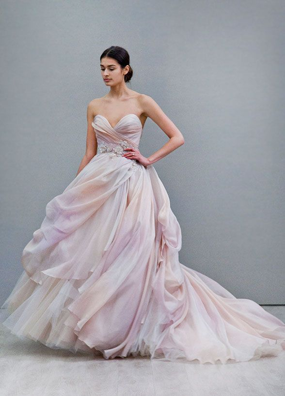 It doesn't get lovelier than this muted watercolor dress by Lazaro. Wedding Dresses, Wedding Gowns, Fashion Week