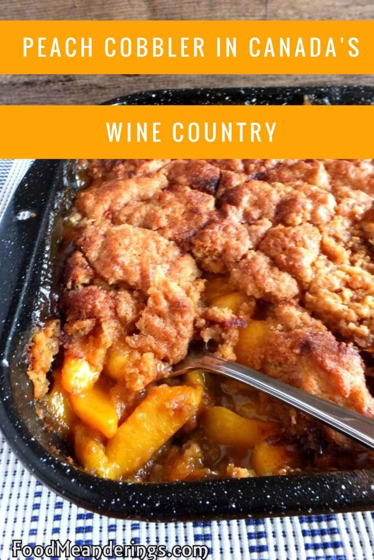Easy best peach cobbler crumble recipe. Delicious sweetness of fresh peaches from Canada's Okanogan orchards.