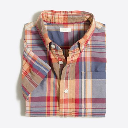 A wardrobe staple crafted in soft washed cotton (just like Dad's!) and cast in an eye-catching hue. It's tough enough for the playground—and the washing machine too. <ul><li>Button-down collar.</li><li>Machine wash.</li><li>Import.</li></ul>