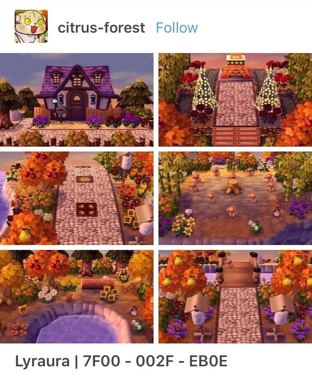 That S Such A Gorgeous Fall Town Animal Crossing Animal Crossing Qr New Leaf