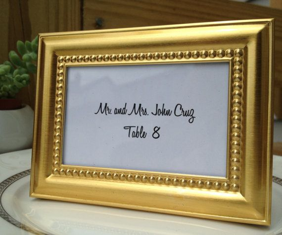 10 mini elegant gold beaded frames place by littlethingsfavors 2250 table and place cards pinterest place cards and wedding - Mini Gold Frames