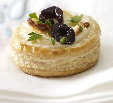 black olive and goat's cheese tartlets