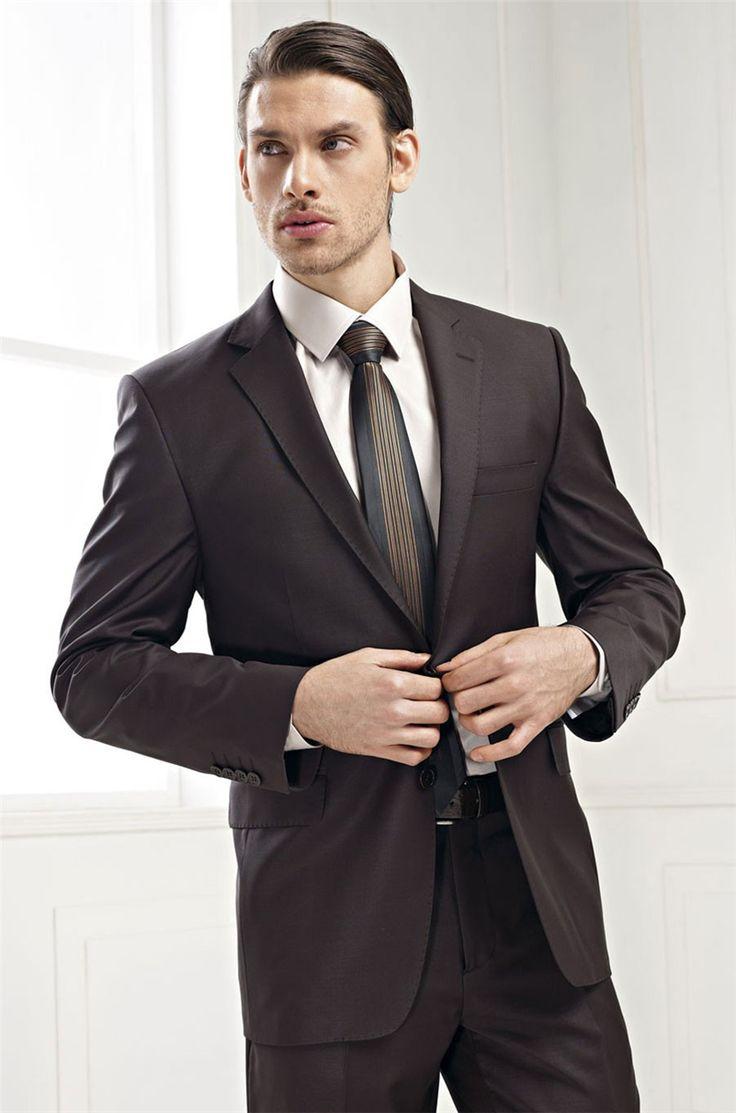 >> Click to Buy << 2016 New Style Groom Tuxedos Dark Brown Groomsmen Notch Lapel Men Wedding Suits Best Mens Suit (Jacket+Pants+Tie+Girdle) B626 #Affiliate