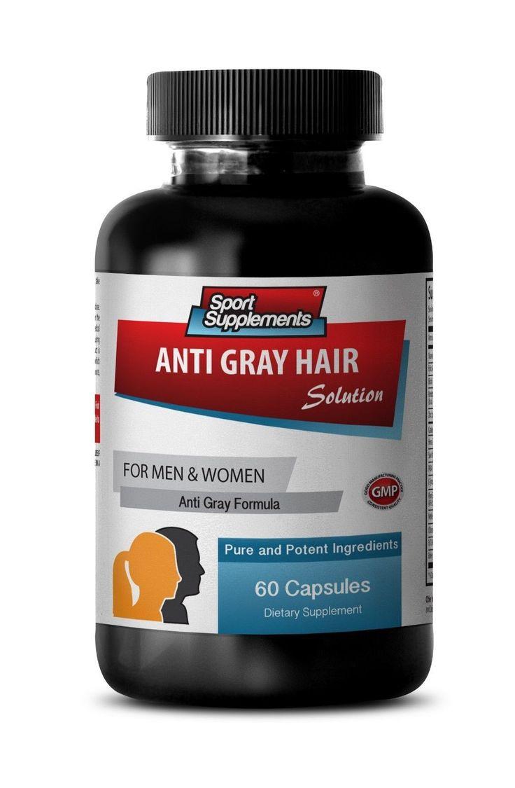 Grey Hair Vitamins - Gray Hair Solution 1500Mg - Promotes Shiny Hair Pills 1B