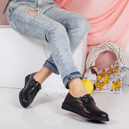 Promotie • Pantofi dama Frappier negri casual