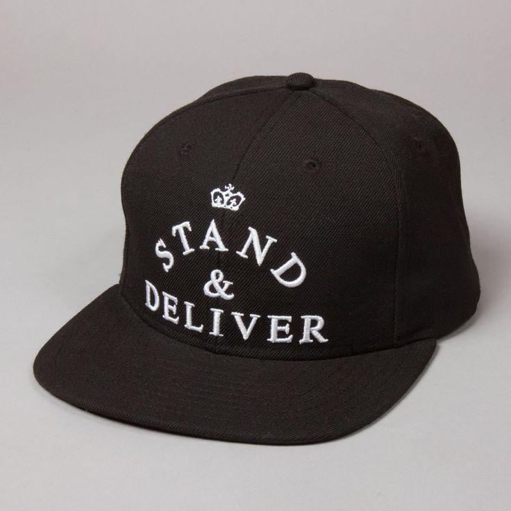 KING APPAREL LONDON REGAL LEATHER STRAPBACK WHITE GRAY BLACK HAT CAP