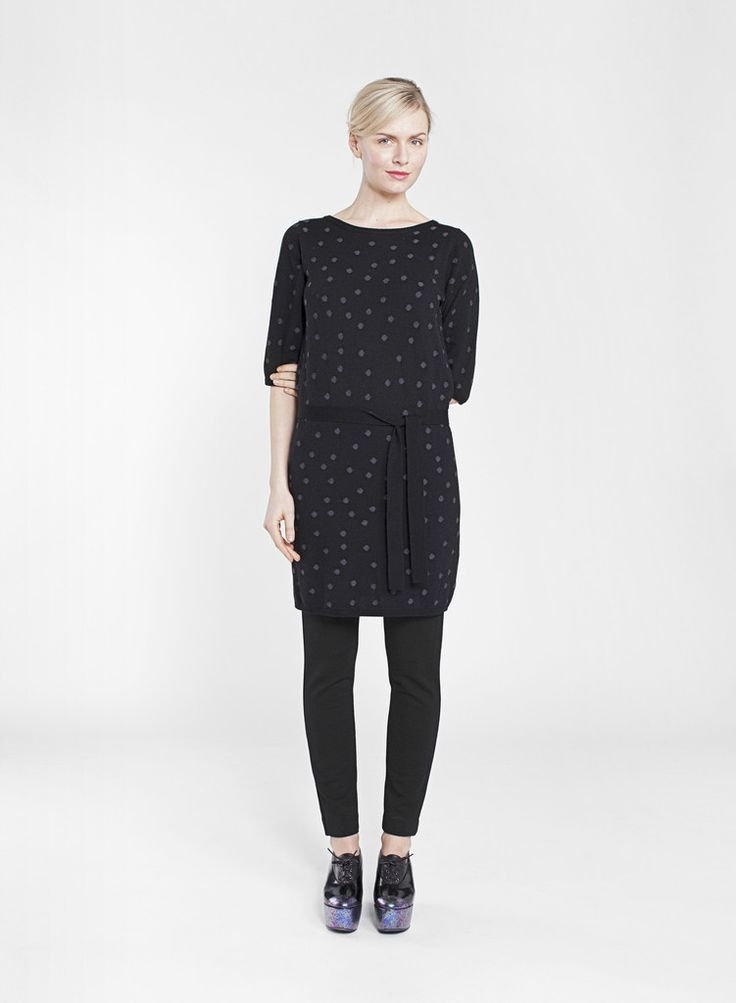 KLIK MARIMEKKO KNITTED DRESS BLACK/GREY