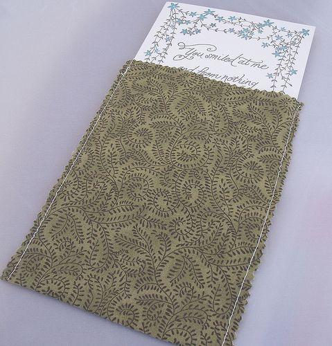 A DIYed pocket-tastic wedding invitation   Offbeat Bride  http://offbeatbride.com/2012/06/pocket-wedding-invitations