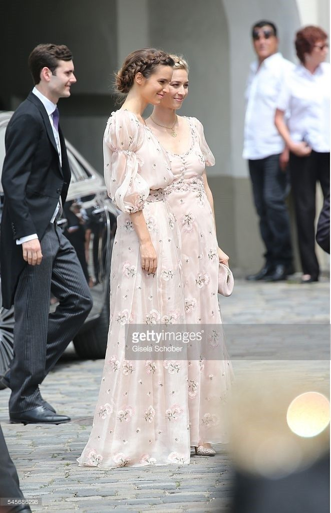 Beatrice Borromeo attended the wedding of Hereditary Prince Franz Albrecht zu Oettingen-Spielberg And Cleopatra von Adelsheim In Oettingen