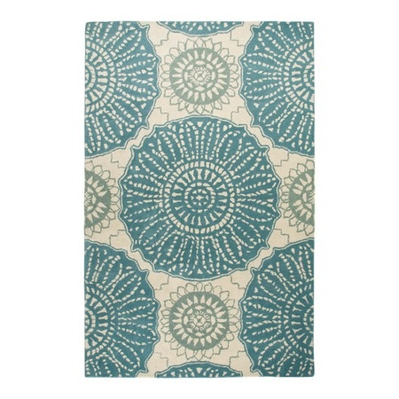 I pinned this Waverly Rug in Aqua from the Delancey Studios event at Joss and Main!