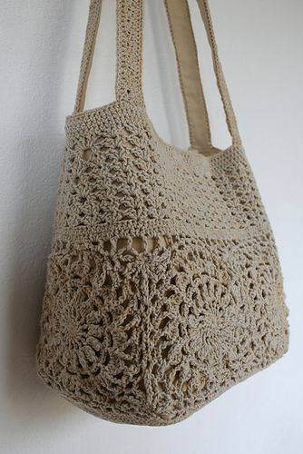Beige handmade crochet handbag red crochet bag summer cotton boho crochet purse …