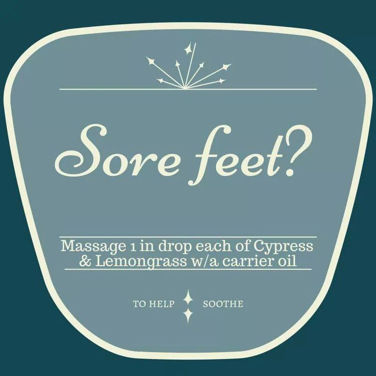 On your feet a lot? This is a must have blend! via Essential Oil Me