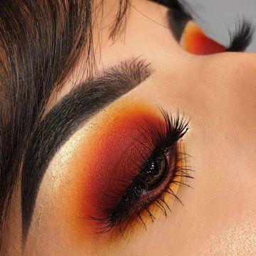 sunset eye look | summer eye look | summer eye makeup | how to wear red orange eyeshadow