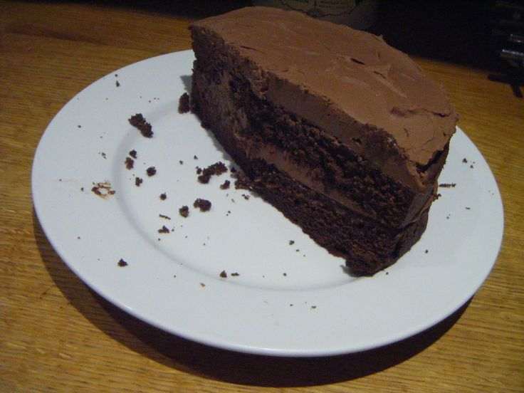 Yum, chocolate fudge cake