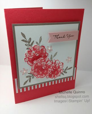 Shell Stamps - Made this using Stampin' Up! Sale-a-Bration 2016 set called What I Love.  Please see my blog for details: http://shellsq.blogspot.com/2016/01/ppa-285.html