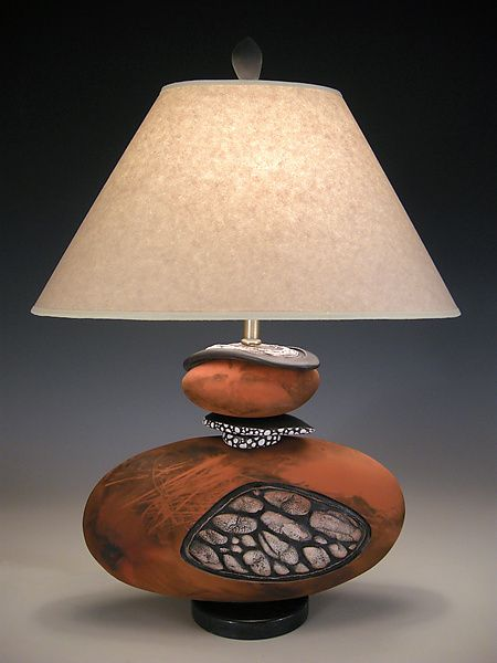 Stone Seeds by Jan Jacque: Ceramic Table Lamp available at www.artfulhome.com