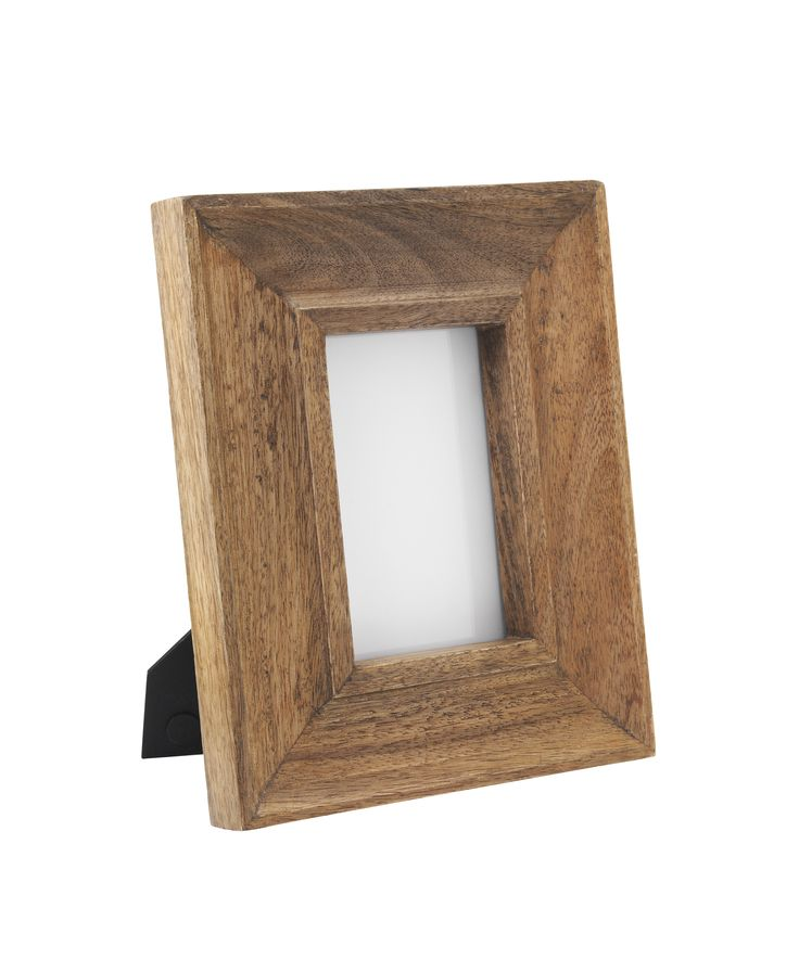 Place this rustic, wooden frame on your coffee table or in the bedroom to showcase your adventures. Priced at £10