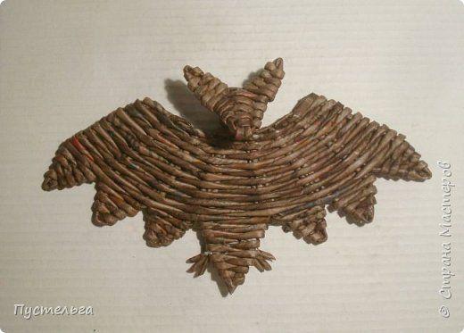 Мастер-класс Поделка изделие Плетение Летучая мышь Трубочки бумажные фото 20