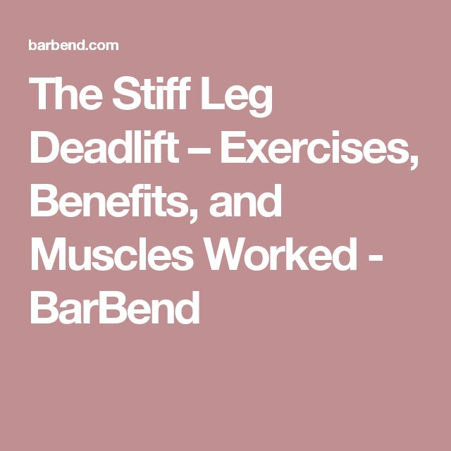 The Stiff Leg Deadlift – Exercises, Benefits, and Muscles Worked - BarBend