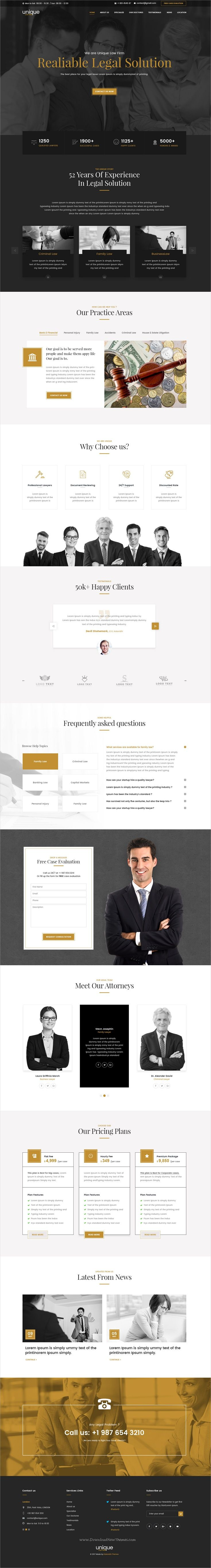 Unique is clean and modern design #PSD template for #lawyer and #law firms landing page website download now➩ https://themeforest.net/item/unique-law-firm-landing-page-psd-template/19823449?ref=Datasata
