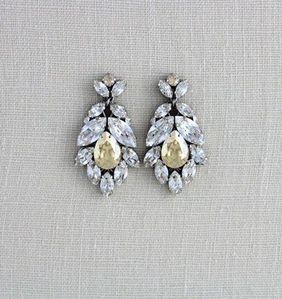 Pendientes de cristal Bridal pendientes de boda joyería