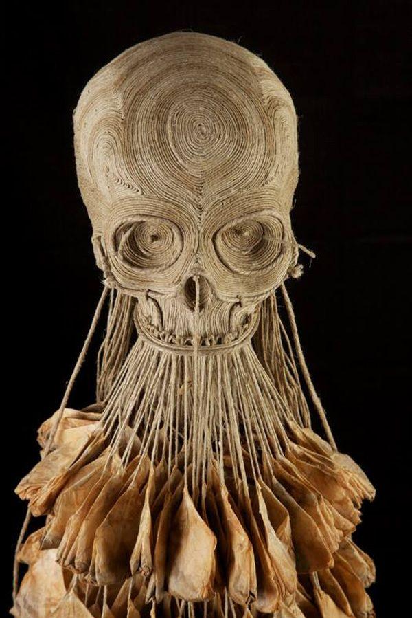 Impressive skull sculptures by Jim Skull - using different materials