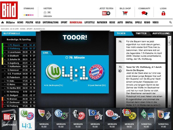 "1:4 lol, the end of FC Bayern,at least for now lol+'though scorpio Schürrle hasn't even started with VfL Wolfsburg yet...lol http://www.bild.de/bundesliga/1-liga/saison-2014-2015/vfl-wolfsburg-gegen-fc-bayern-muenchen-am-18-Spieltag-36647914.bild.html  Now FC Bayern Doesn't Feel Bored Anymore! Astro snake Thomas Müller: ""Ihr sprechts von Langeweile, aber jetzt hab' ich Langeweile""…"