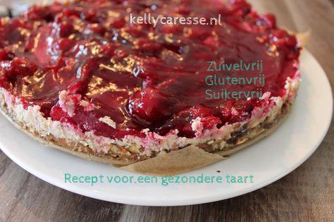 Recept voor een gezondere taart glutenvrij, suikervrij en lactose vrij die een look a like van de monchou / cheesecake is! Heerlijk en voor iedereen wat wil