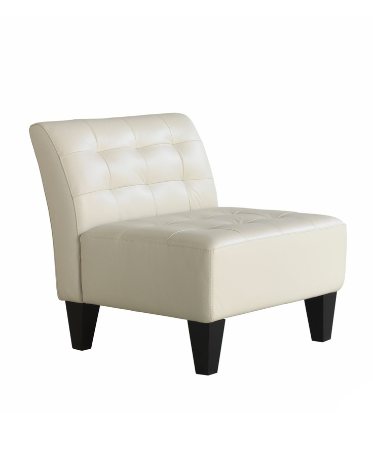 Orso Leather Armless Living Room Chair