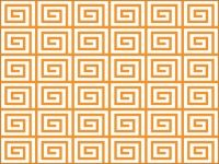 Greek Wallpaper Carrot orange, Dodger blue, Aqua Cyan, Bluebonnet, Daffodil, Red 3