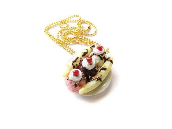 This banana split necklace