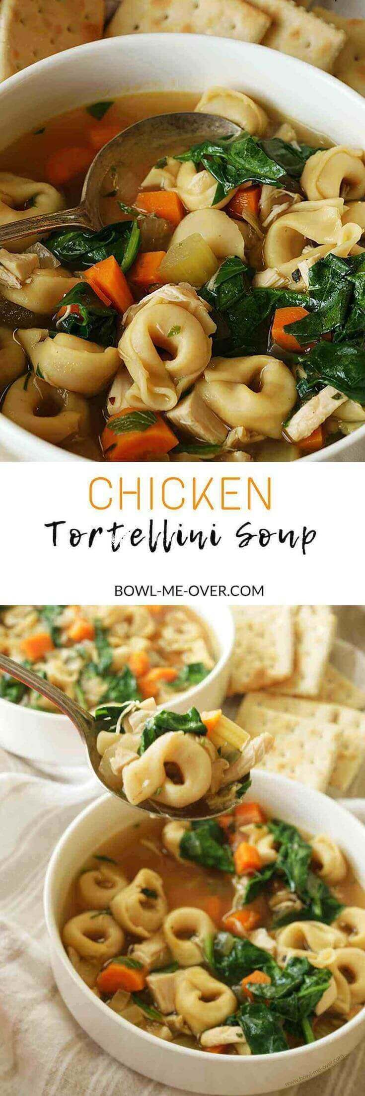 What to make for dinner? How about Chicken Tortellini Soup - only 30 minutes to make and so delicious, it's a great meal to serve your family.
