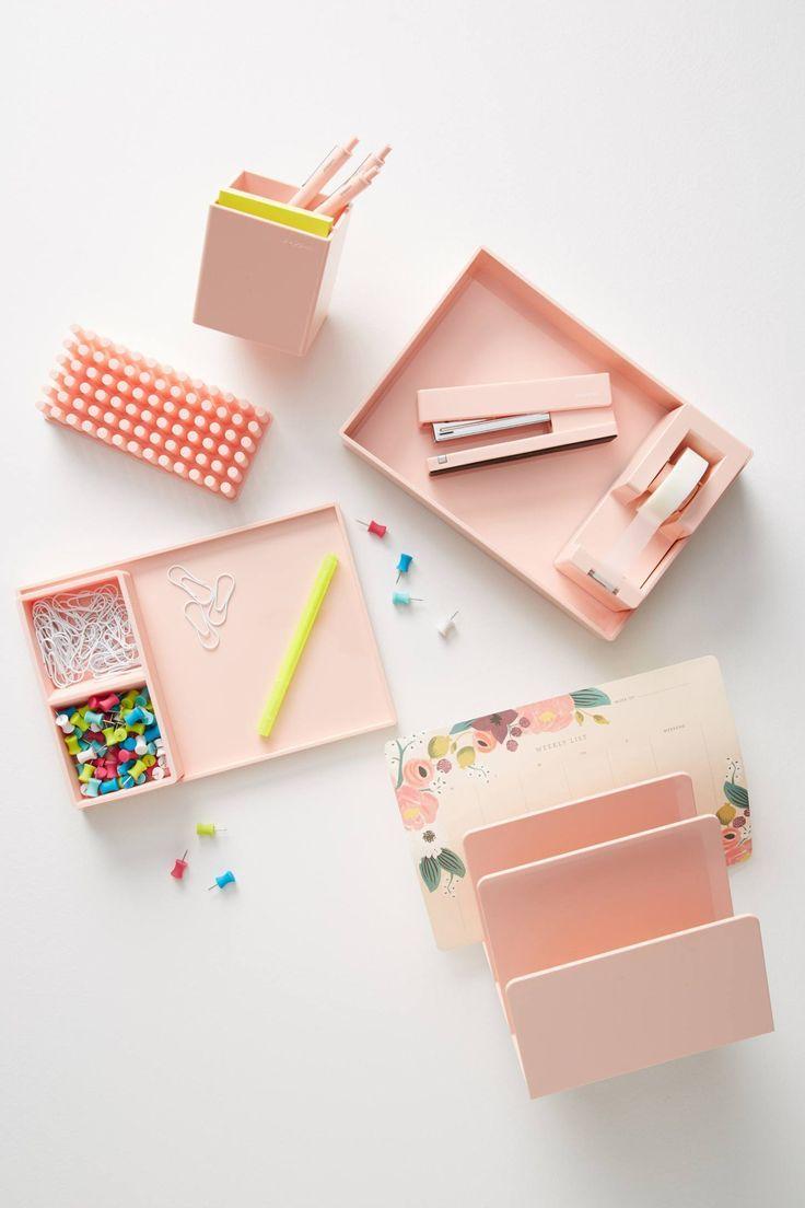Poppin Blush Stapler Pink Desk Accessories Office Supplies Diy