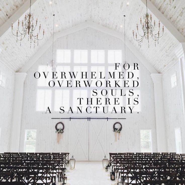 for overwhelmed, overworked souls, there is a sanctuary