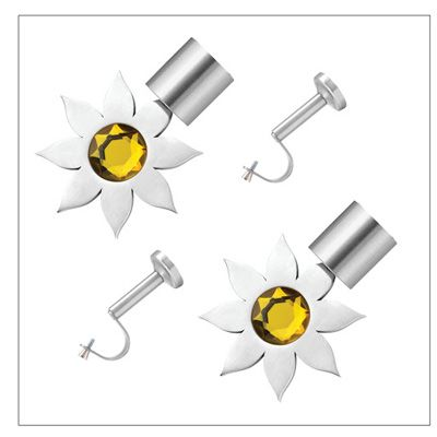 Buy CME Stainless Steel Yellow Curtain Bracket With Single Support Poles - Set Of 4 by CME, on Paytm, Price: Rs.1099