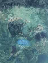 Original Roberto Sebastian Matta (1911-2005) The Turbulent Sea 1973 Signed Print