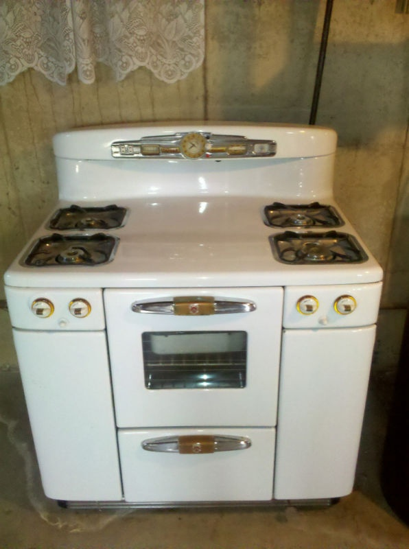 1950 39 s vintage tappan deluxe gas range stove pinterest