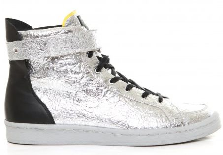 Metallic SLVR Cupsole Hightop by Adidas SLVR #adidas #moda #trends #silver #shoes #zapatos