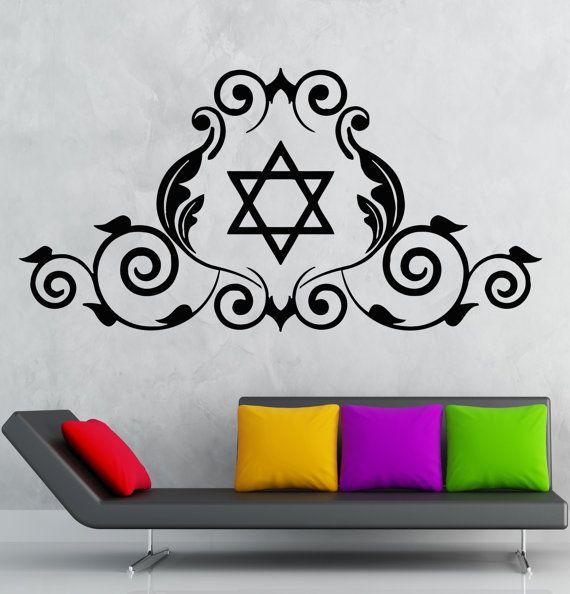 Vinyl Aufkleber Star Of David jüdische Symbol von Wallstickers4you
