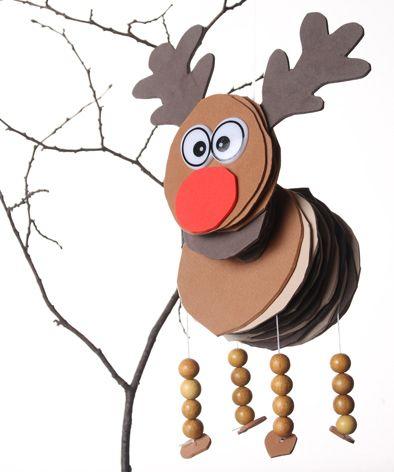 Fliegendes-Rentier (Rudolf) // Nur mit Hilfe eines Rentieres können all die Geschenke an Weihnachten verteilt werden. Wie Du es basteln kannst, zeigen wir hier: http://www.marein.ch/basteln/1445/step-by-step-fliegendes-rentier/
